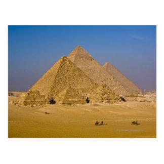 Carte Postale Les grandes pyramides de Gizeh, Egypte