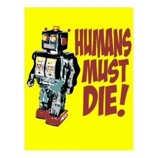 Carte Postale Les humains doivent mourir