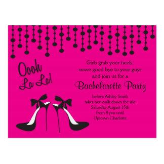 Carte Postale les idées de partie de bachelorette Party/nuit de