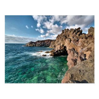 Carte Postale Les Îles Canaries de côte de Lanzarote