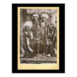 Carte Postale Les Indiens 1890 de Buffalo Bill