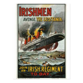 Carte Postale Les Irlandais vengent l'affiche de