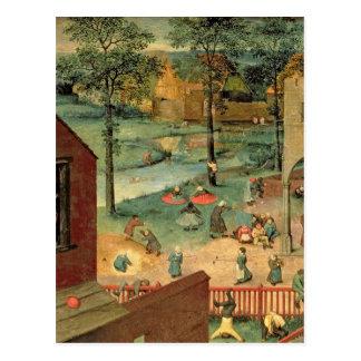Carte Postale Les jeux des enfants, 1560