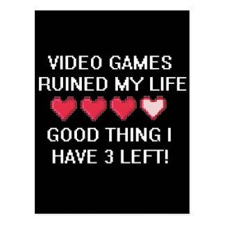 Carte Postale Les jeux vidéo ont ruiné mon style de vie 1
