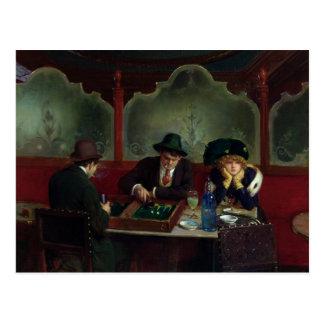 Carte Postale Les joueurs de backgammon