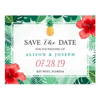 Carte Postale Les ketmies hawaïennes d'ananas tropical font