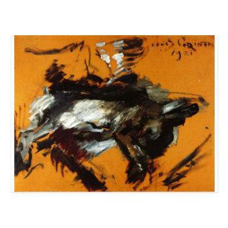 Carte Postale Les lièvres par Lovis Corinthe