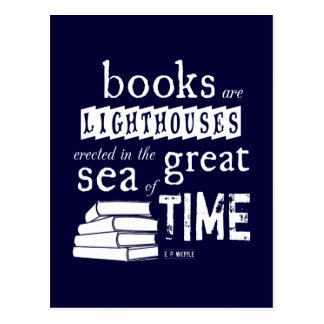 Carte Postale Les livres sont des phares en grande mer de temps