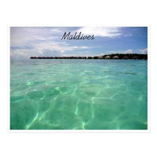 Carte Postale les Maldives dégagent les eaux