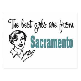 Carte Postale Les meilleures filles sont de Sacramento