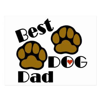 Carte Postale Les meilleures marchandises de papa de chien