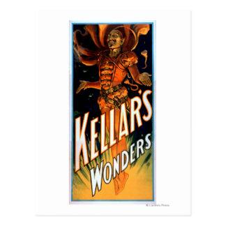 Carte Postale Les merveilles de Kellar habillées comme la magie
