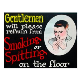 Carte Postale Les messieurs s'abstiendront svp au tabagisme