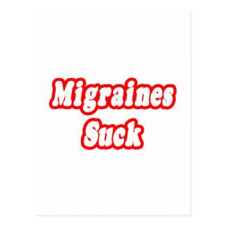 Carte Postale Les migraines sucent