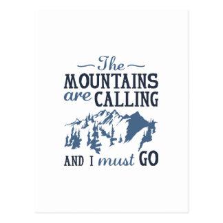 Carte Postale Les montagnes appellent