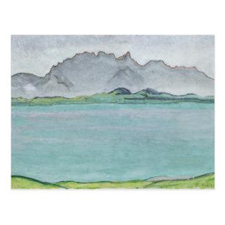 Carte Postale Les montagnes et le lac Thun, 1911 de Stockhorn