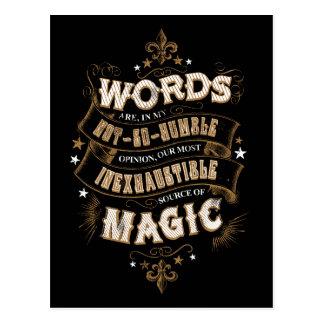 Carte Postale Les mots du charme | de Harry Potter sont notre la