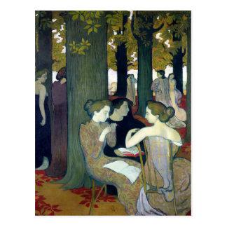 Carte Postale Les Muses, 1893