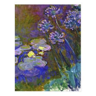 Carte Postale Les nénuphars et l'Agapanthus de Monet