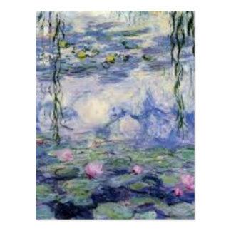 Carte Postale Les Nympheas de Claude Monet (Water Lilly)
