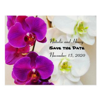 Carte Postale Les orchidées tropicales font gagner la date