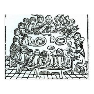 Carte Postale Les pèlerins de Cantorbéry