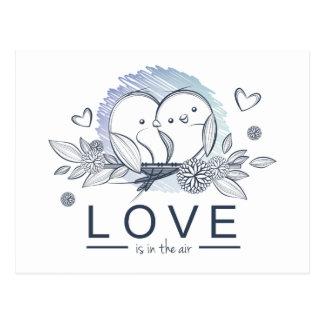 Carte Postale Les perruches sauvent le mariage pourpre de date