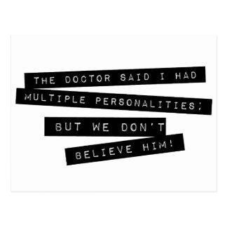 Carte Postale Les personnalités multiples de ' Have de docteur
