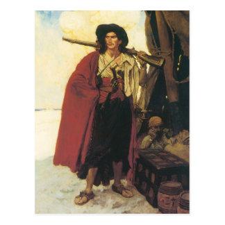 Carte Postale Les pirates Buccaneer de cru étaient un camarade
