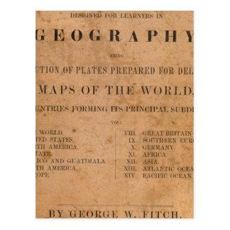 Carte Postale Les plats de cartographie de Fitch