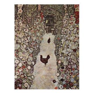 Carte Postale Les poulets de Klimt