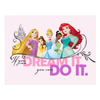 Carte Postale Les princesses de Disney   n'abandonnent jamais