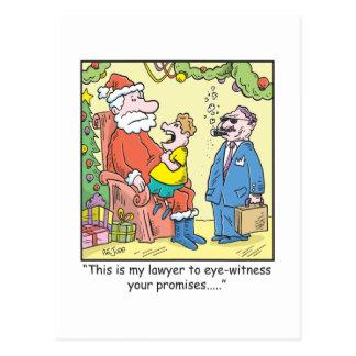Carte Postale Les promesses de Père Noël de bande dessinée de