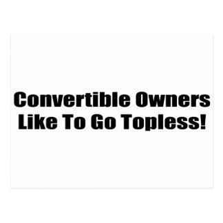 Carte Postale Les propriétaires convertibles aiment aller torse
