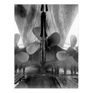 Carte Postale Les propulseurs de Titanic