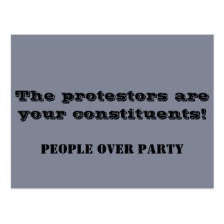 Carte Postale Les protestataires sont vos constituants !