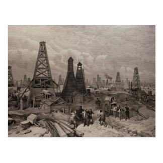 Carte Postale Les puits de pétrole de pétrole à Bakou sur le