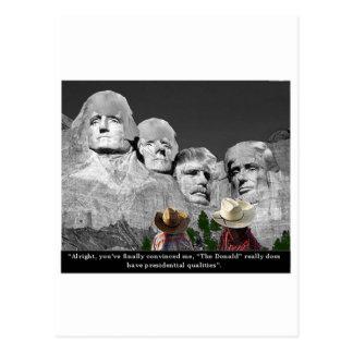 """Carte Postale """"Les qualités présidentielles de Donald """""""