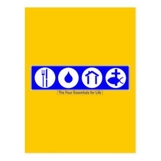 Carte Postale Les quatre bases pendant la vie