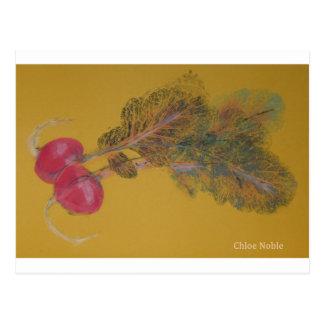Carte Postale Les radis de Valya