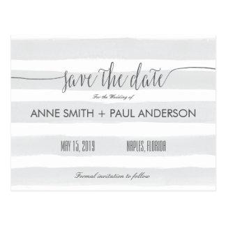 Carte Postale Les rayures grises font gagner la date