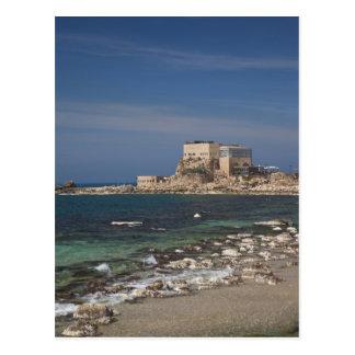 Carte Postale Les ruines de Césarée du port ont construit par