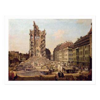 Carte Postale Les ruines du vieux Kreuzkirche, Dresde