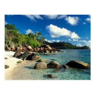Carte Postale Les Seychelles, île de Mahe, plage d'Anse Royale.