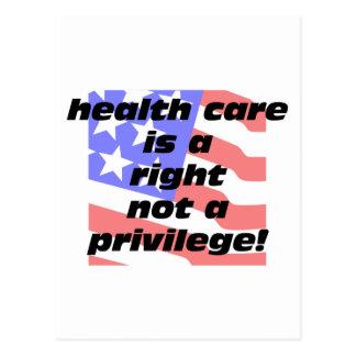 Carte Postale les soins de santé sont un juste