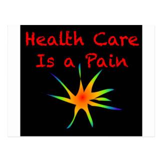 Carte Postale Les soins de santé sont une douleur
