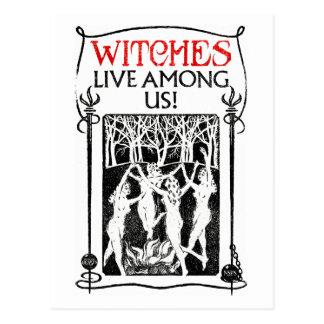 Carte Postale Les sorcières vivent parmi nous