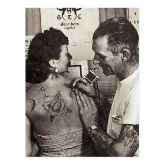Carte Postale Les tatouages de Shieferly d'Al se sont levés
