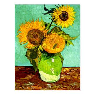 Carte Postale Les tournesols de Van Gogh (3)