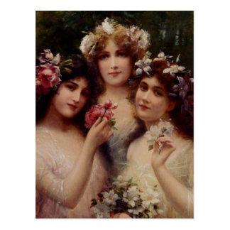 Carte Postale Les trois grâces - Émile Vernon
